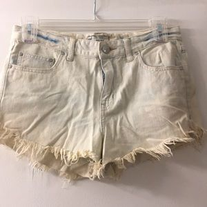 Free People Cut Off Denim Shorts 28